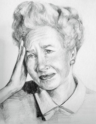 """Deborah Whitney, Fer Fucks Sake, 2019, Graphite on Strathmore 400 Series paper, 10""""x7½"""""""