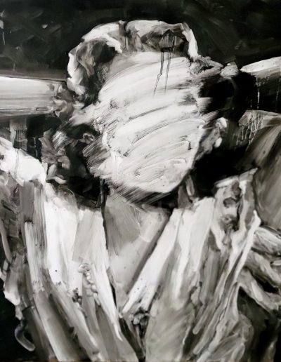 Deborah Whitney, The Power of Invisibility: Barbara, 2021, oil paint and encaustic wax on birch panel