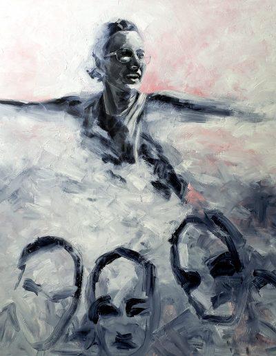 "Deborah Whitney The Beginning, 2021 oil on canvas 72"" x 72"""